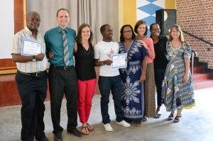 Celebrating GTRI grads in Rwanda, courtesy Heather Drew
